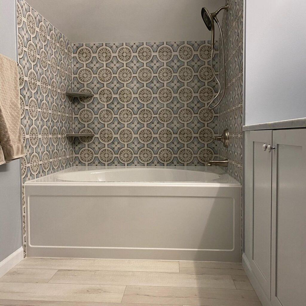 modern eclectic bath renovation