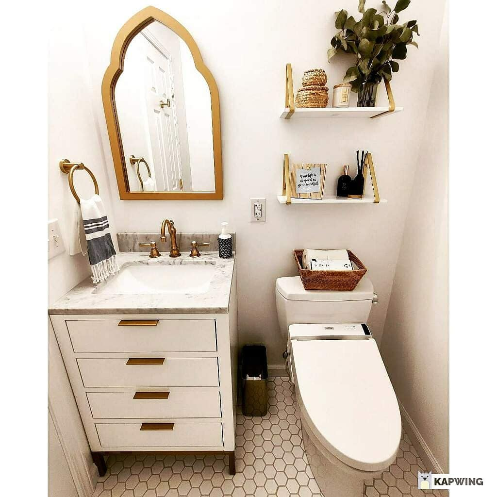 new bathroom - powder room makeover