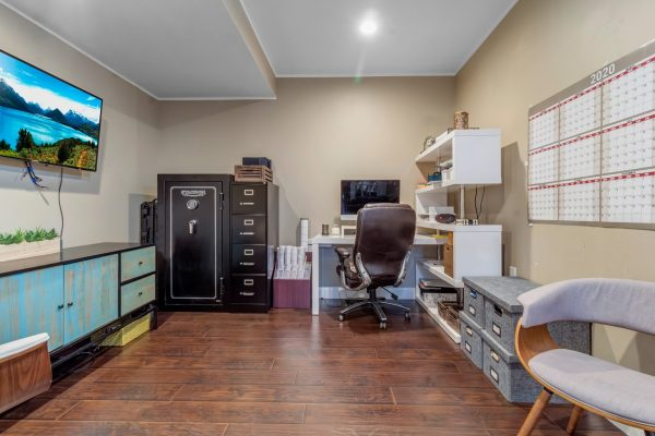 Basement office finish and remodel