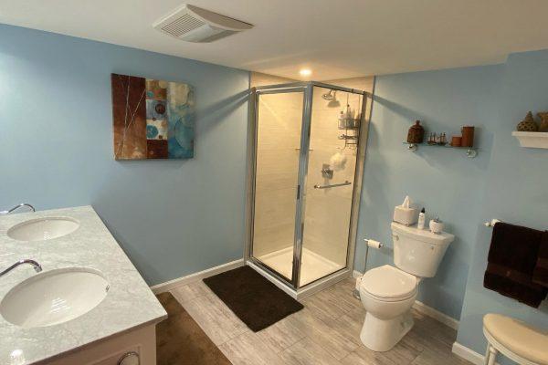 basement bathroom addition